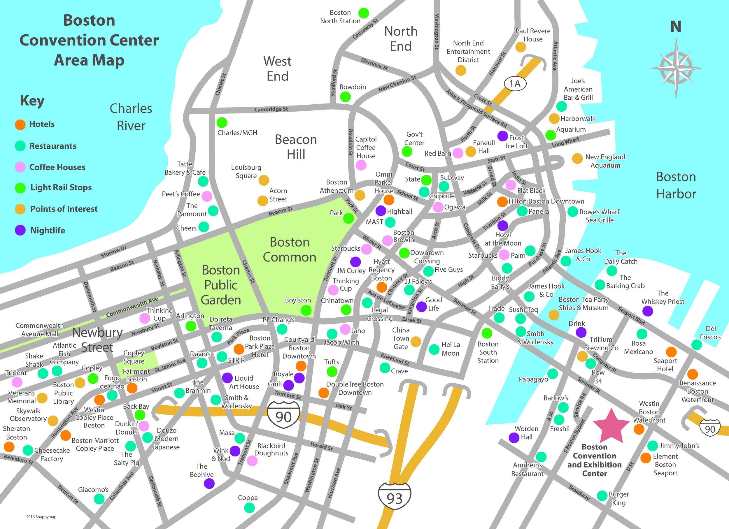Boston Business Map