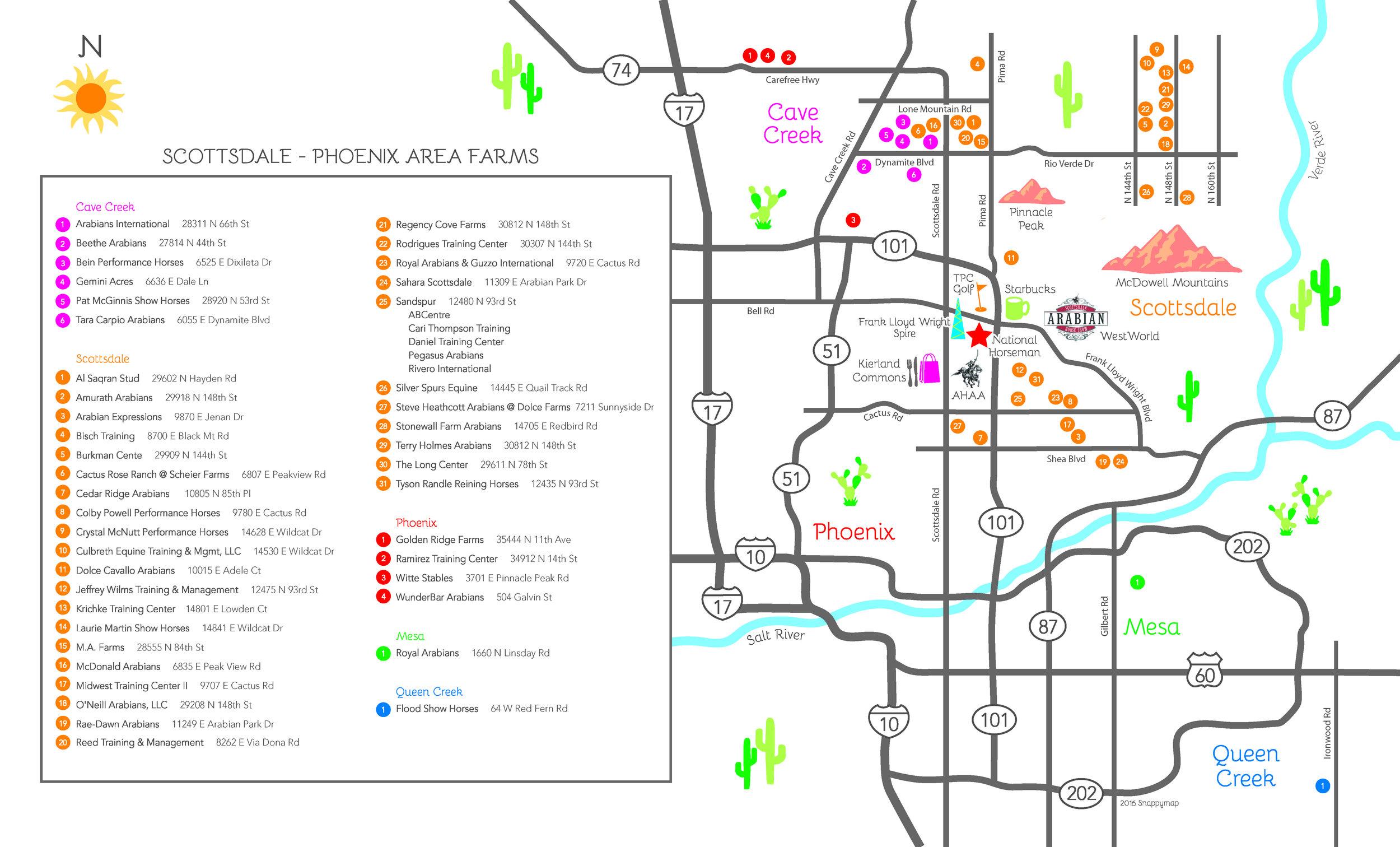 Arizona Horse Farm Map