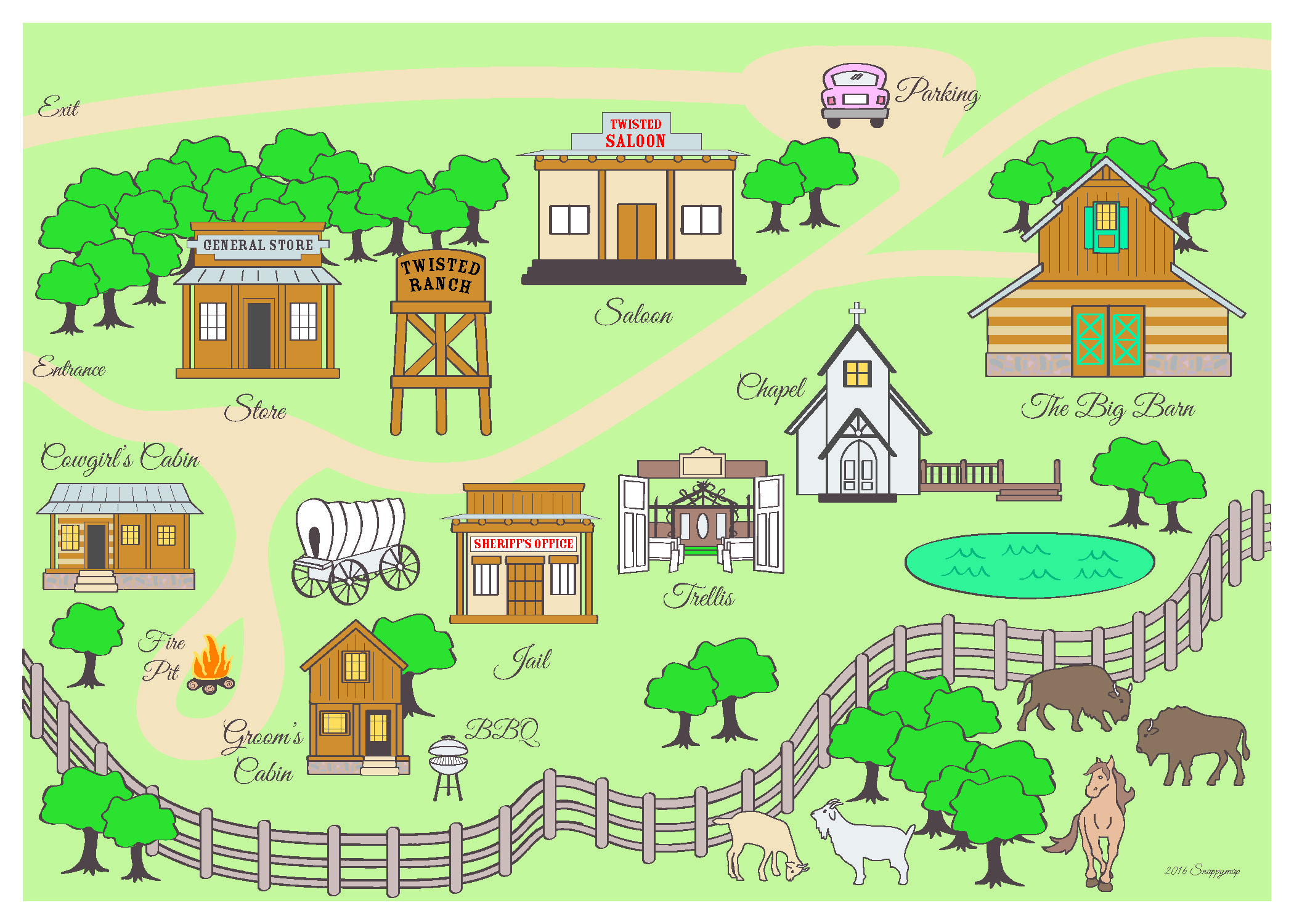Ranch Business Map