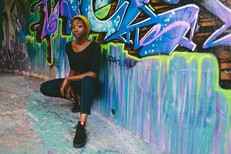 Graffiti Street Style Fashion Portrait