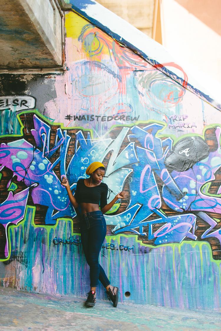 Fun Graffiti Street Style Fashion Portrait