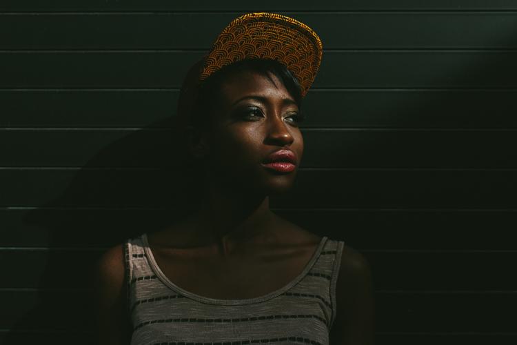 Incredible Lighting in Atlanta Street Style Fashion Portrait