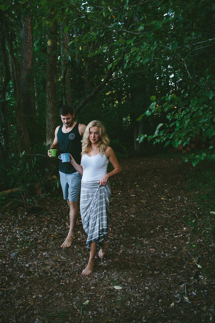 Engaged Couple Walking