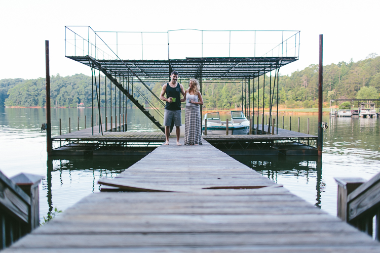 Engaged Couple on Pier