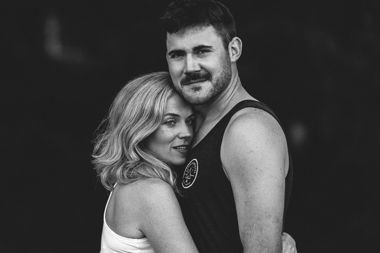 Black and White Shot of Couple