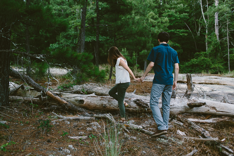 Couple Holding Hands on the Arabia Mountain