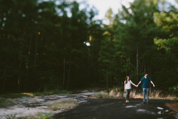 Couple Holding Hands on Arabia Mountain