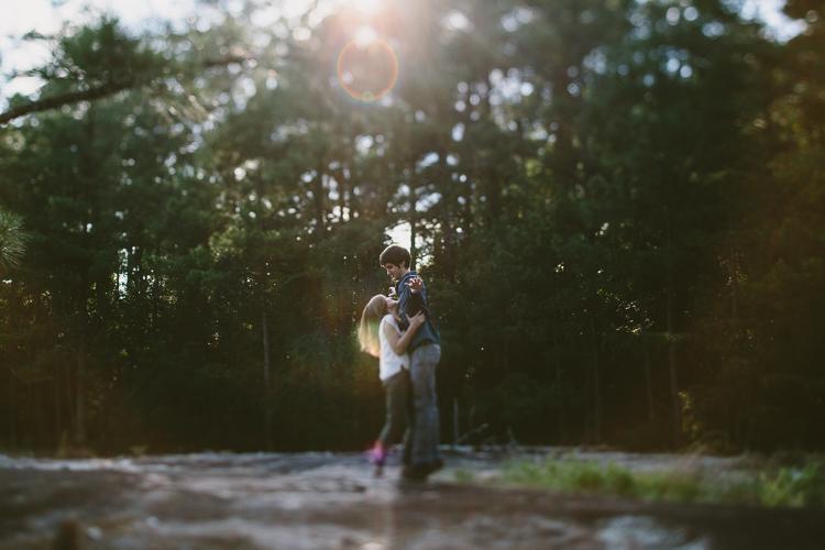 Beautiful Light on Happy Engaged Couple