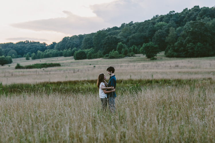 Engaged Couple in Fields