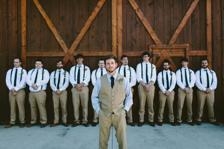 Groom and Groomsmen at Reid Bard Wedding