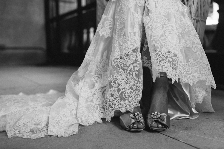 Southern Lace Wedding Dress with Shoes