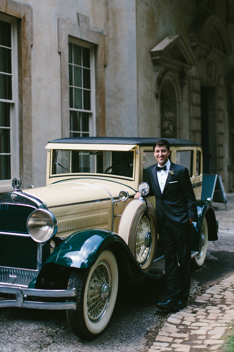 Groom Portrait with Old Fashioned Care