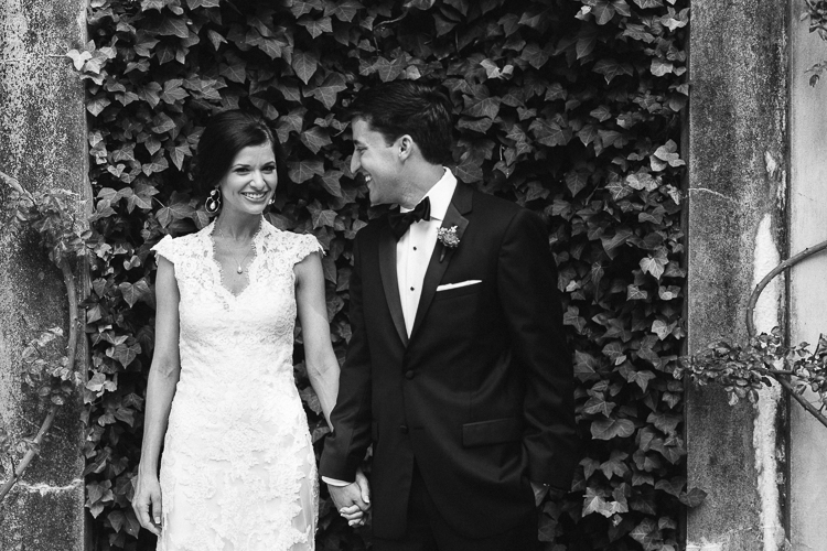 Bride and Groom Portraits at Swan House Wedding