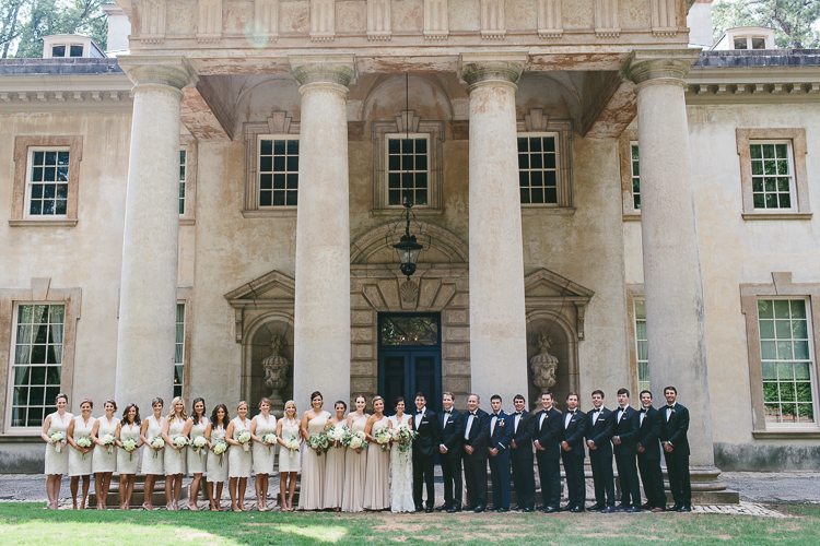 Wedding Party at Swan House Wedding
