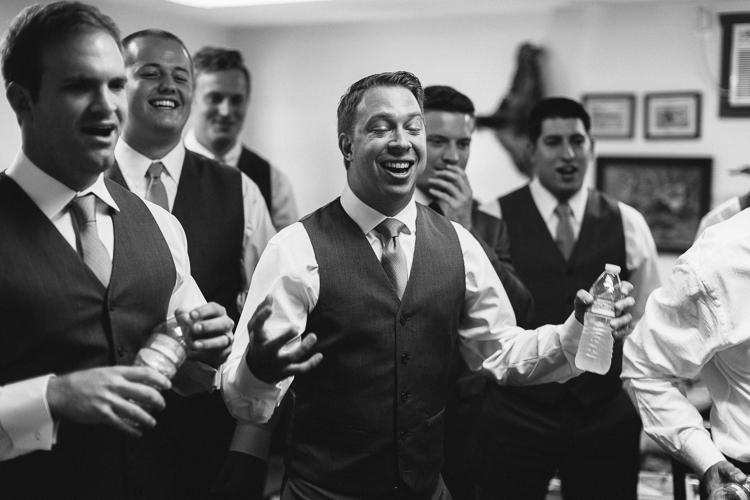 Groomsmen Sharing a Laugh