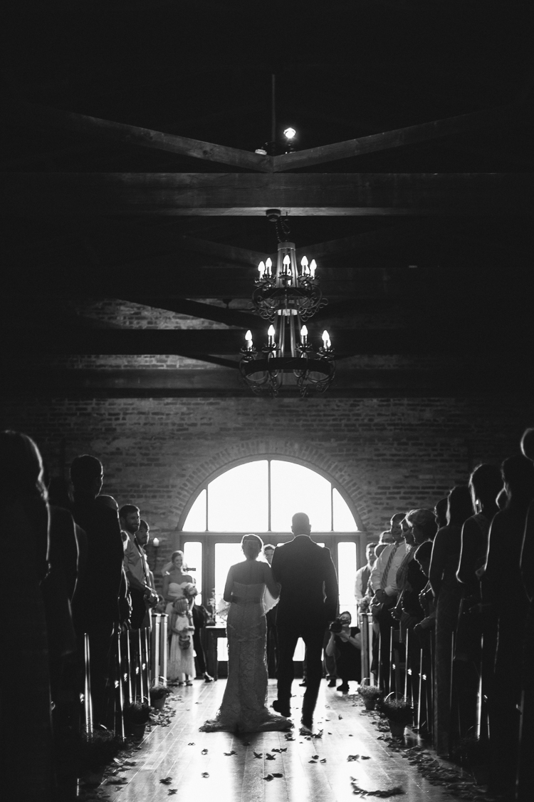The Father Walking the Bride Down the Aisle