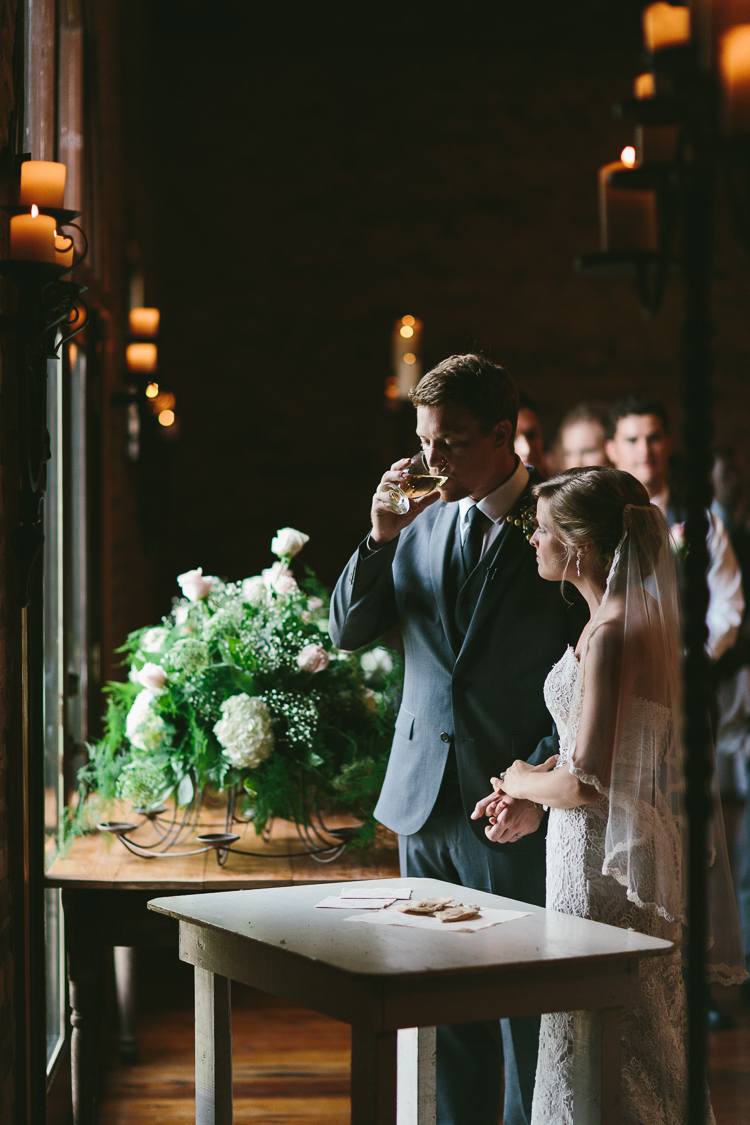 The Bride and Groom Taking Communion