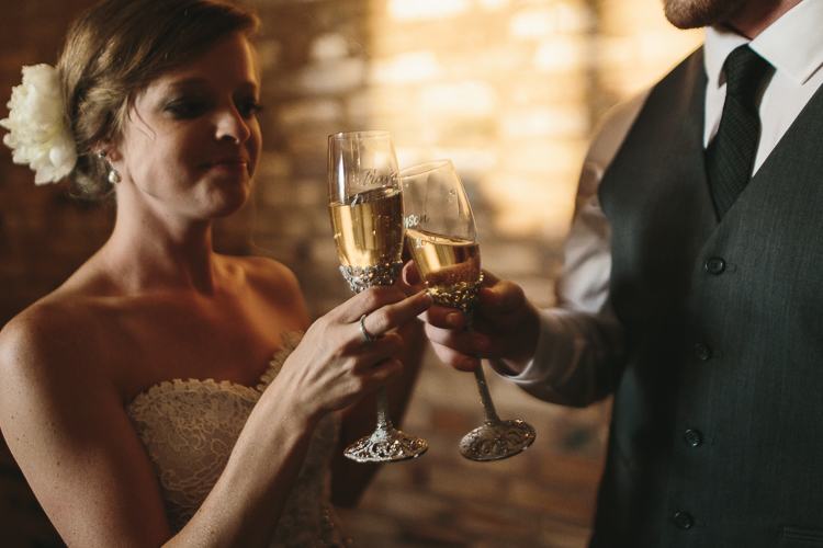 The Bride and Groom Toasting