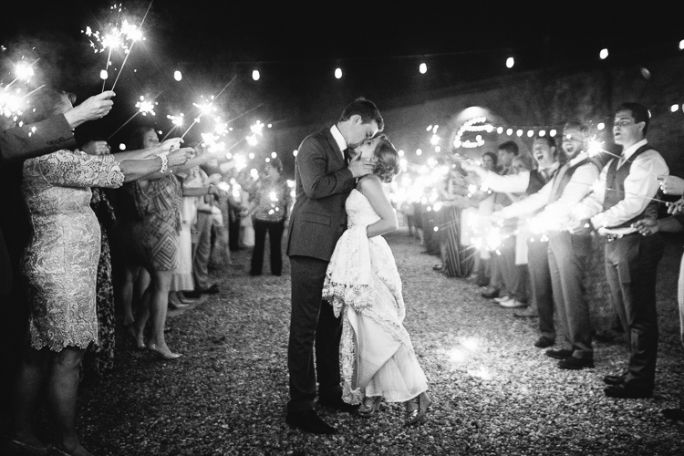 The Bride and Groom's Final Kiss at Smithonia Farms
