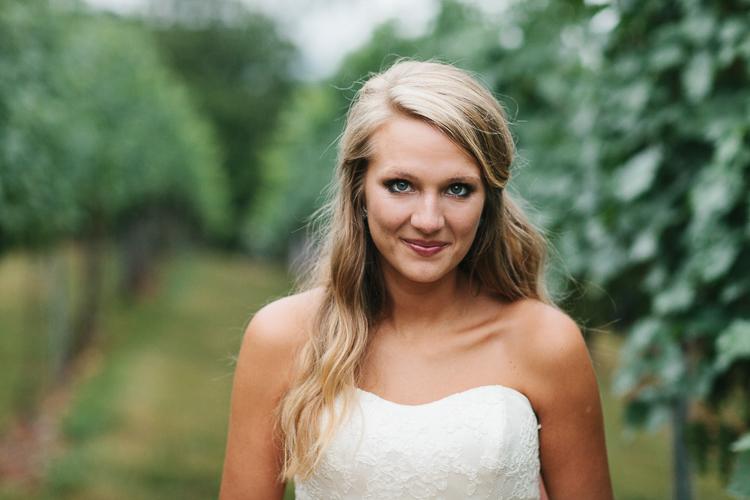 Close Up Portrait of the Bride | Wolf Mountain Vineyard Wedding
