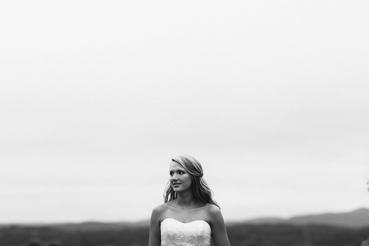 Portrait of the Bride with Negative Space