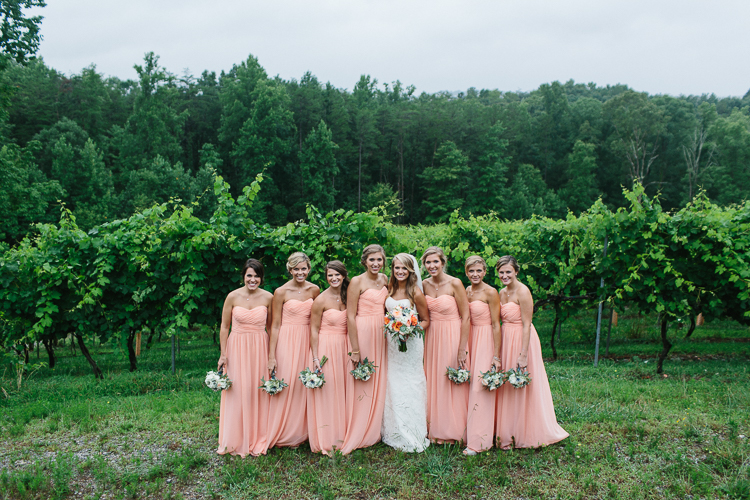 Portrait of the Bridal Party | Wolf Mountain Vineyard Wedding