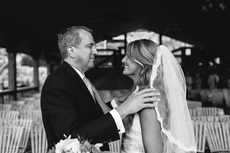 Father and Daughter's First Glance | Wolf Mountain Vineyard Wedding