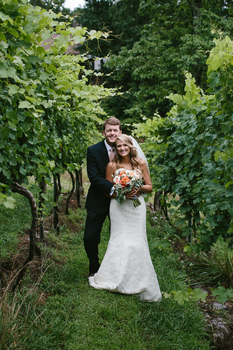 The Happy Newly Weds in the Vinyard