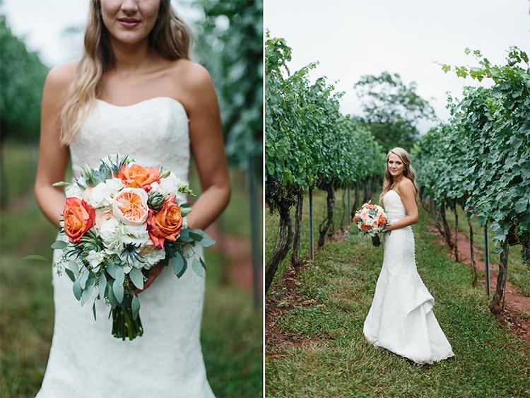 Bride Portraits at Wolf Mountain Vineyard Wedding