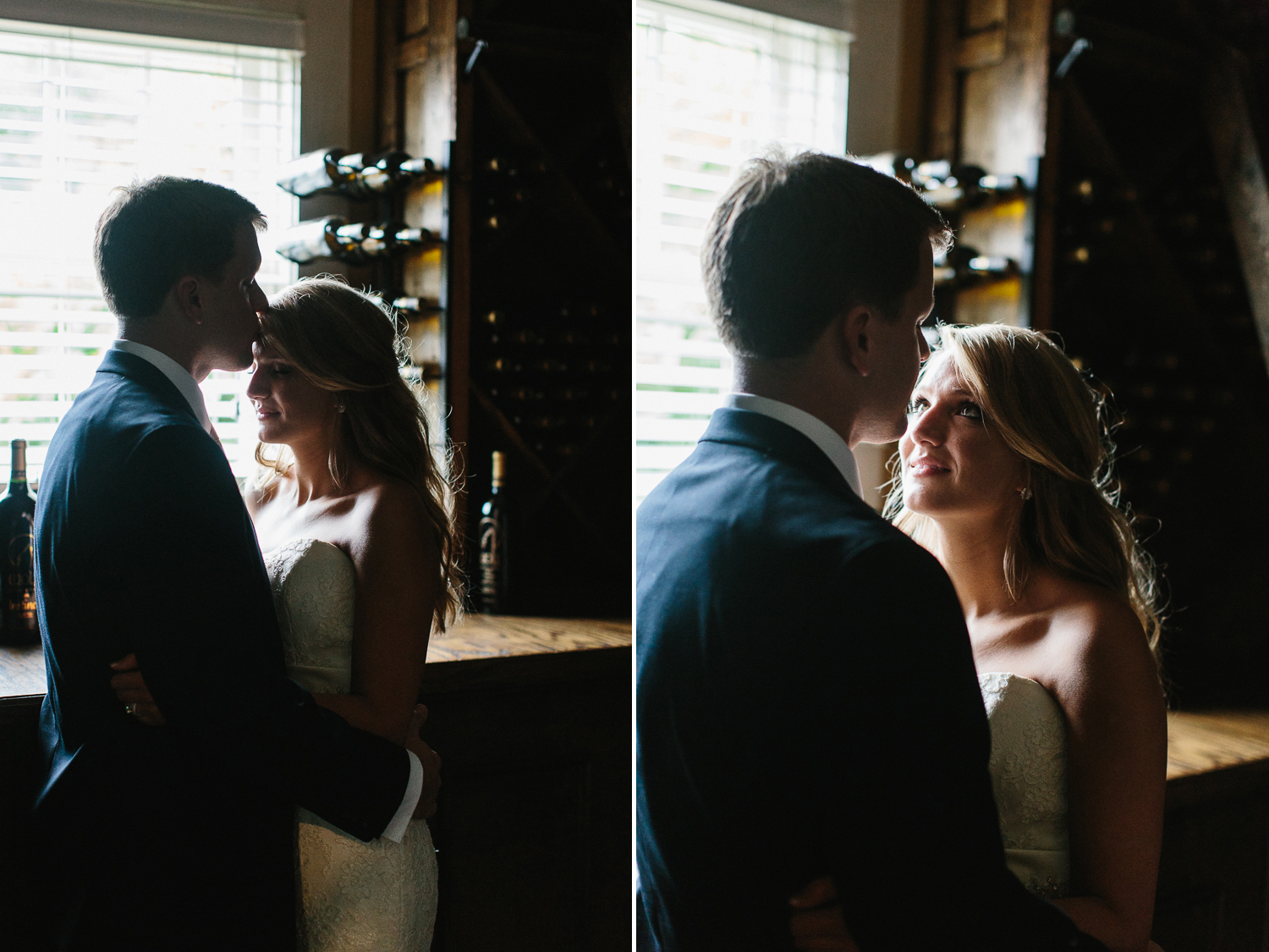 An Intimate Moment Shared by the Bride and Groom After the Wedding