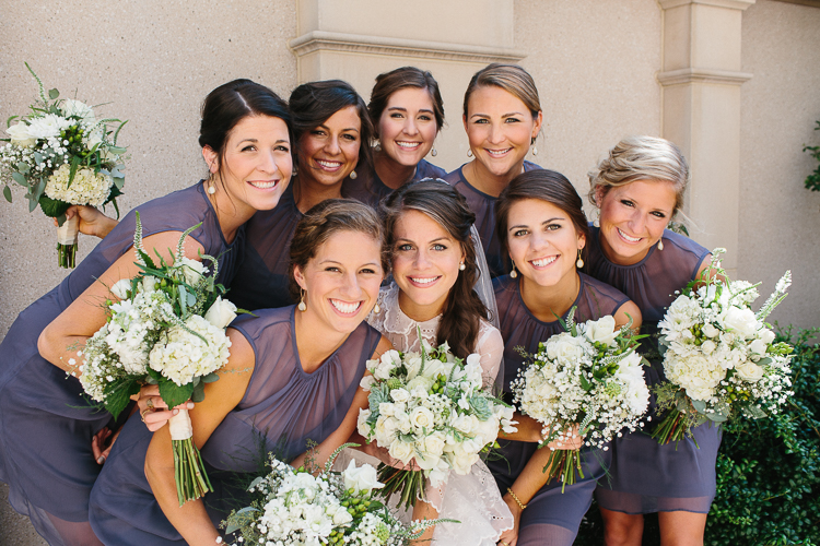 The bride with her bridesmaid