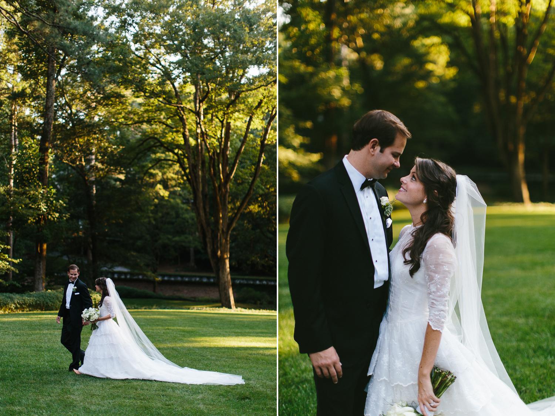 Beautiful outdoor bride and groom portraits