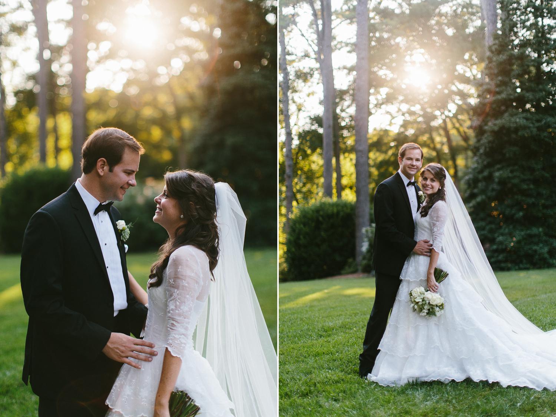 Amazing light bride and groom portraits