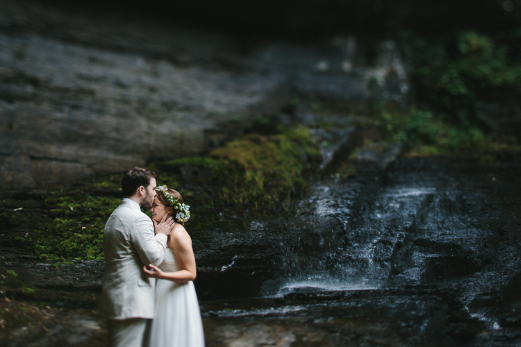 Bride and groom portraits at cloudland canyon