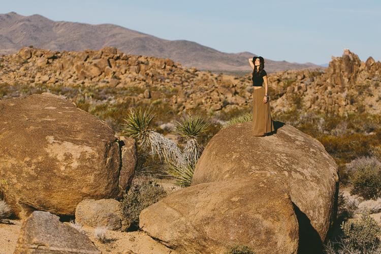 California landscape fashion shoot