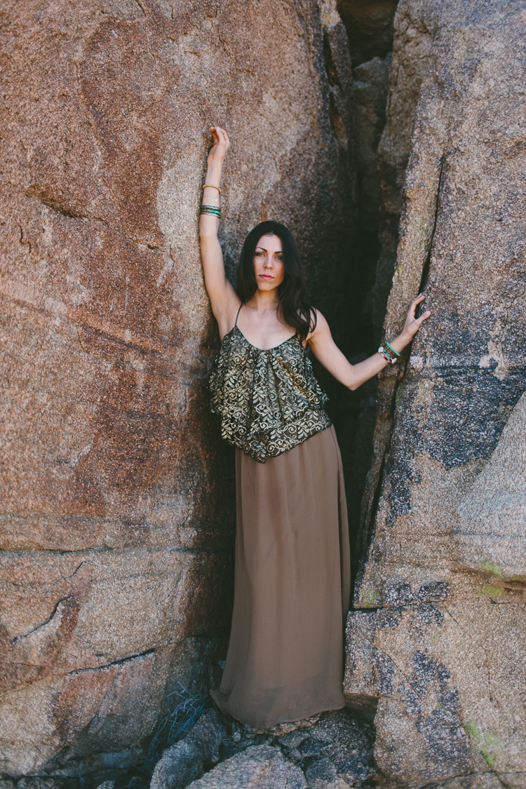 Bohemian style fashion shoot