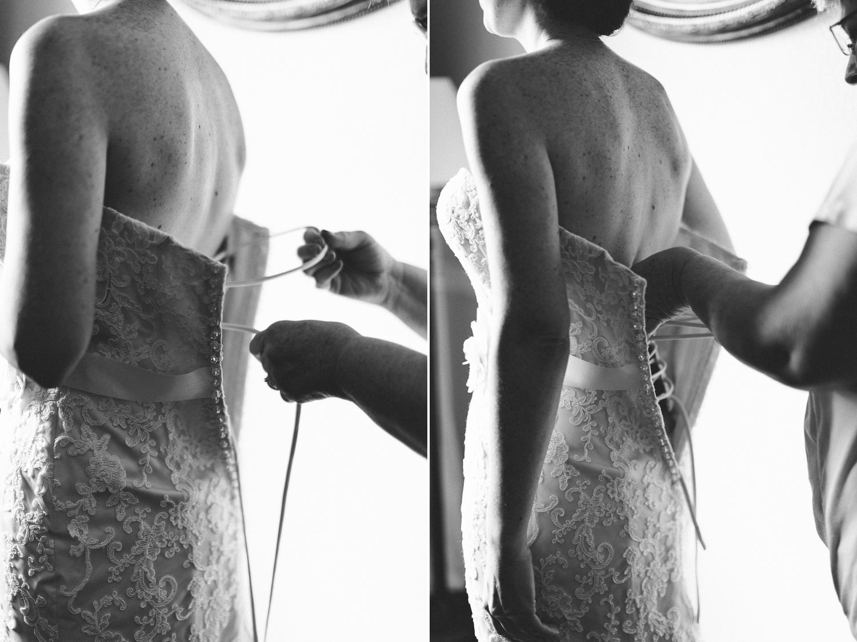 Bride getting ready portrait