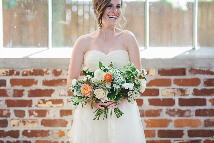 The bride's beautiful large bouquet