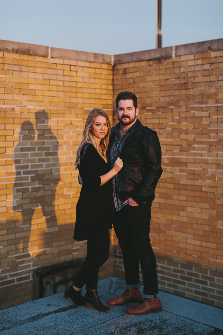 Engagement Portraits with Shadows