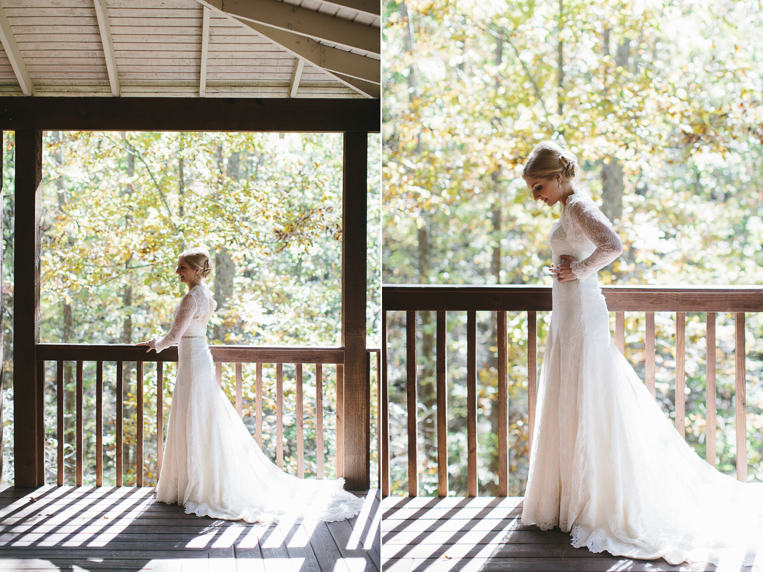 Beautiful southern bride in lace