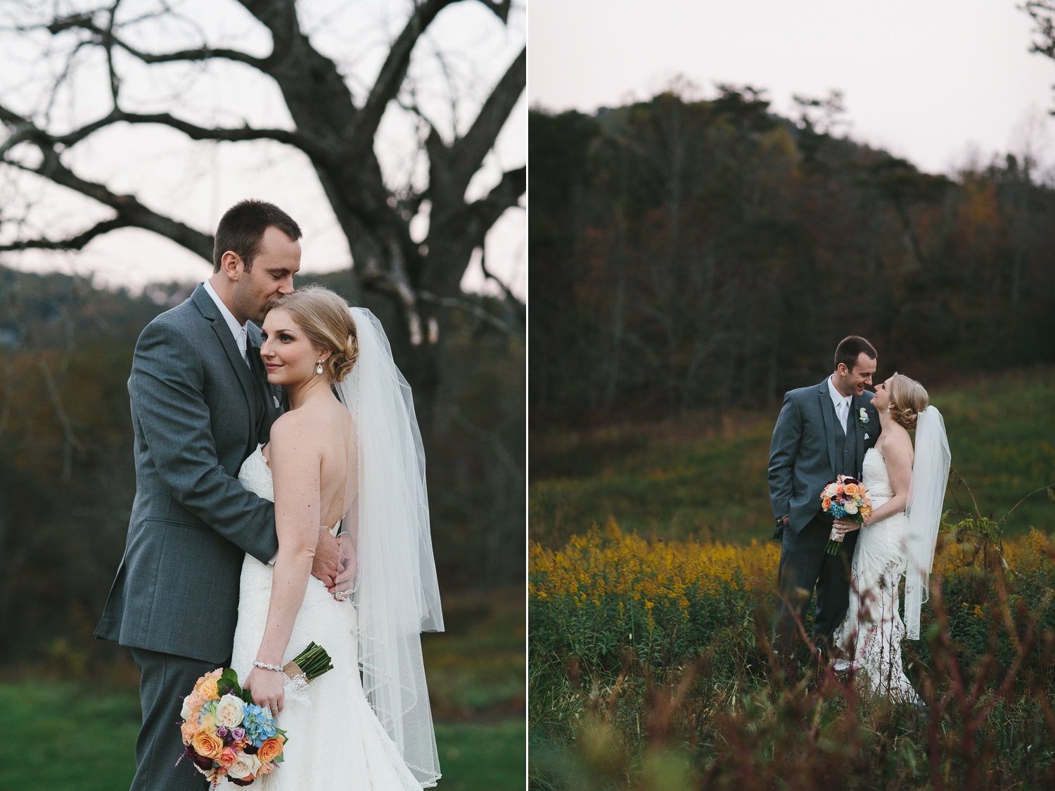 Beautiful outdoor portraits of bride and groom