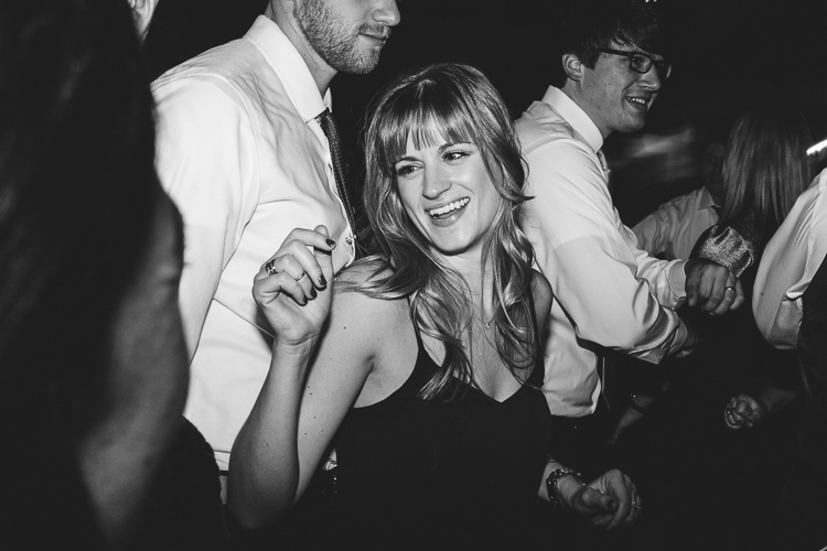 girl dancing at reception