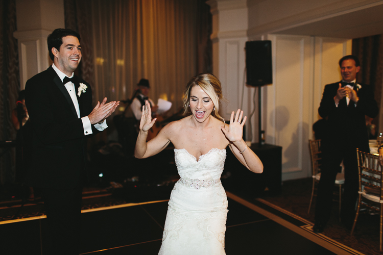fun first dance with bride and groom