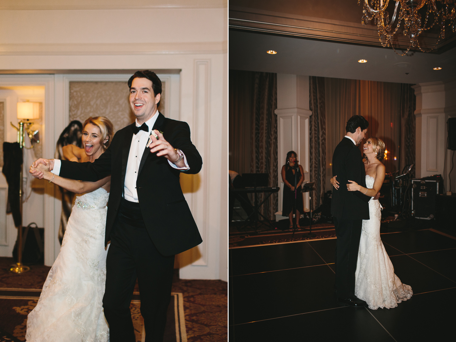 bride and groom's entrance and first dance