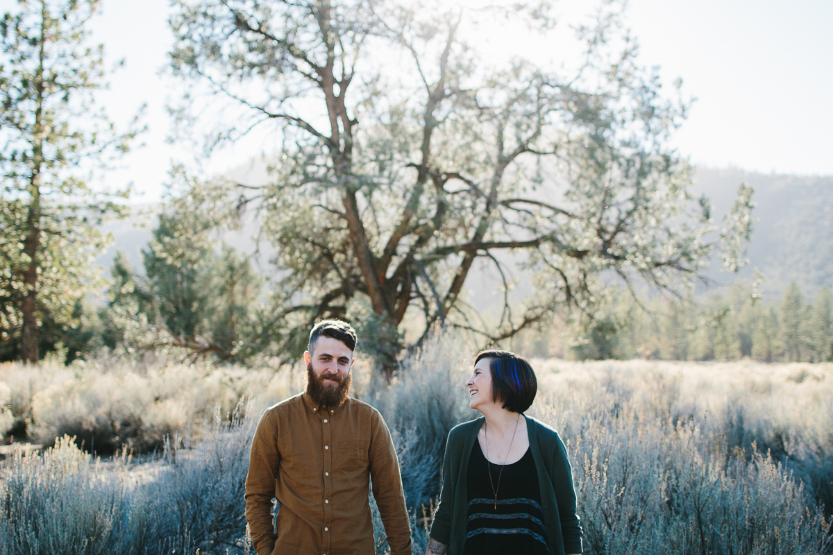 Engagement Portrait Session in Los Padres Mountains