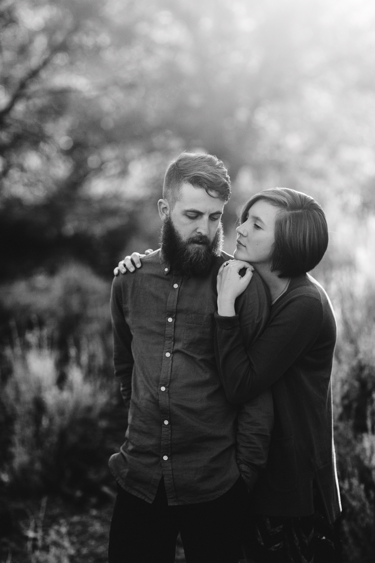 Engagement Portrait in Los Padres National Forest