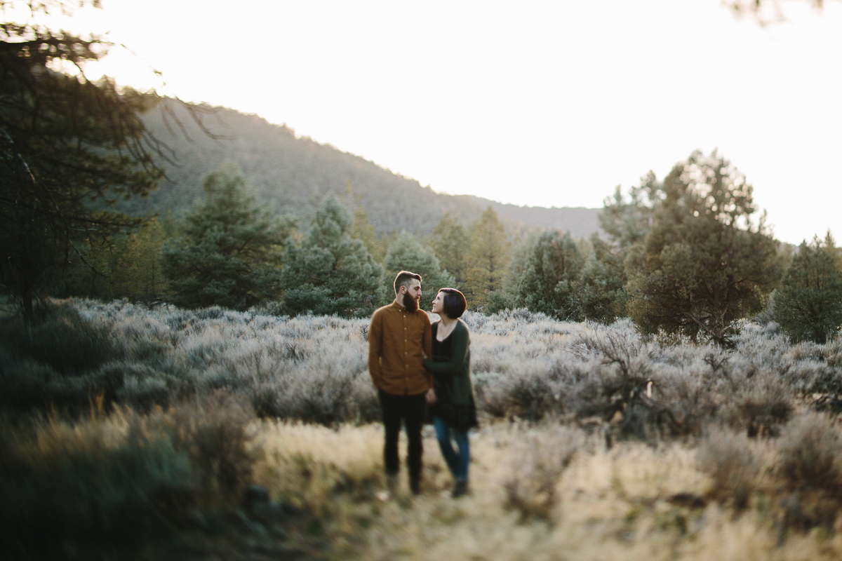 Engagement Portrait Session in Los Padres Mountains California