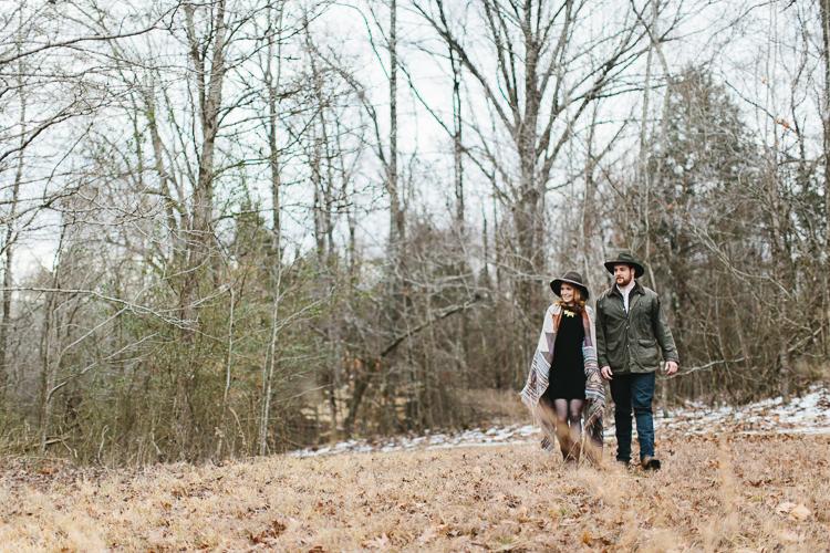 garden and gun inspired engagement shoot