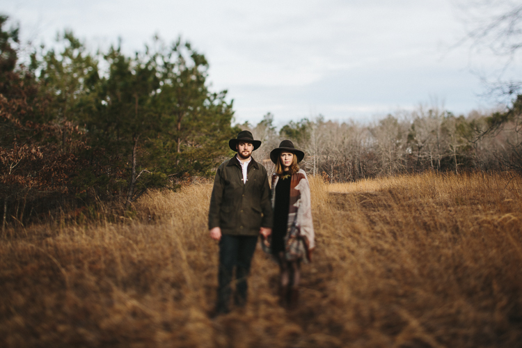 kinfolk inspired engagement portraits