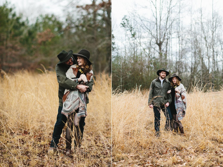 fun kinfolk inspired engagement shoot